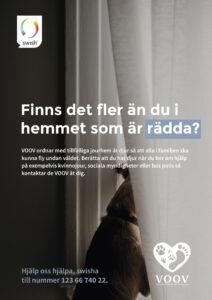 Affisch med information om VOOV