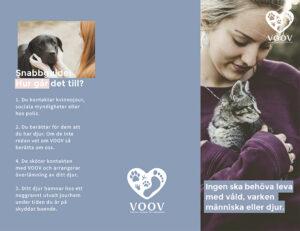 VOOV Folder till dig som utsätts för våld, sid 1